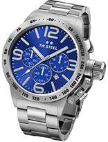 TW Steel Canteen Unisex Automatic Watch with Blue Dial Analogue Display and Silver Stainless Steel Bracelet CB15