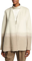 Lafayette 148 New York Kaye Oversized Collarless Ombre Jacket, Ecru Multi
