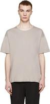 Robert Geller Grey Crew T-Shirt