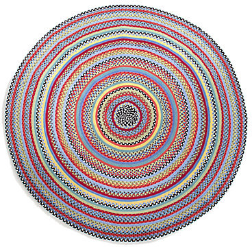 Mackenzie Childs MacKenzie-Childs Crayon Round Braided Rug