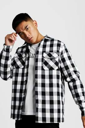 boohoo Quilted Check Over Shirt