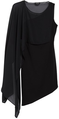 Bebe Chiffon Overlay Drape Dress