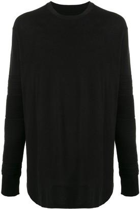 Julius knitted sleeve cotton T-shirt