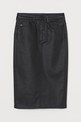 H&M Shaping Denim Pencil Skirt - Black