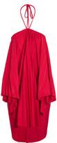 Balenciaga Convertible Pleated Stretch-satin Halterneck Dress - FR36