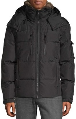 S13 Men's Sierra Parka Down Jacket with Detachable Faux Fur collar and Removable Hood, up to size 2XL