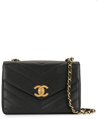 Chanel Pre Owned V-stitches quilted chain shoulder bag