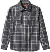 Joe Fresh Kid Boys' Flannel Shirt, Dark Grey Mix (Size S)