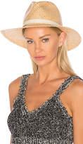Rag & Bone Raffia Wide Brim Hat in Tan. - size L (also in S)