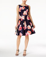 Jessica Howard Floral-Print Fit & Flare Dress
