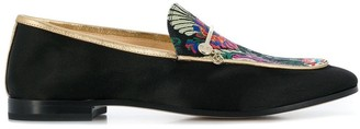 Fabi floral embroidered loafers