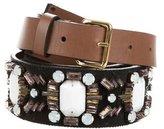Marni Grosgrain Jewel-Embellished Belt