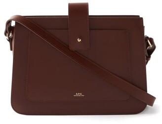 A.P.C. Albane Smooth-leather Cross-body Bag - Burgundy