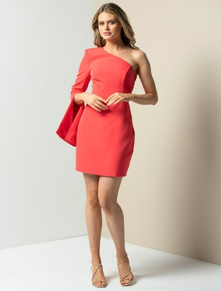 Forever New Sophia One-Sleeve Mini Dress - Peony Coral - 10