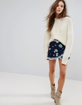 BA&SH Embroidered Frill Skirt