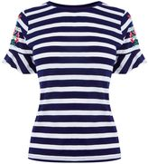 Oasis EMBROIDERED STRIP TEE