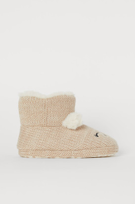 H&M Warm-lined Slippers - Beige