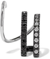 Maria Black - Bess Mono Twirl 14-karat White Gold, Rhodium-plated And Diamond Earring - R
