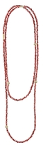 Lagos 18K Gold and Garnet Single Strand Caviar Icon Station Necklace, 34