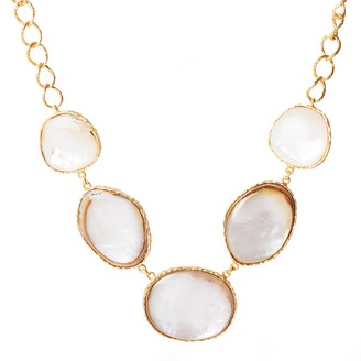 Christina Greene Statement Necklace in Pearl