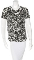 Isabel Marant Silk Short Sleeve Top