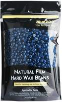 Bluezoo Stripless Professional Hot Film Hair Removal Hard Wax Beans for Depilatory on All kinds of Skin Types,250g/Bag