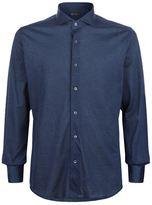 Corneliani Oxford Piqué Polo Shirt