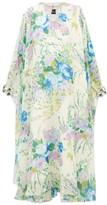 Richard Quinn Crystal-embellished Floral-georgette Dress - Womens - Blue Multi