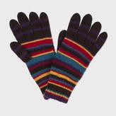 Paul Smith Men's Signature Stripe Wool-Blend Gloves