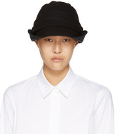 Y's Ys Black Brim Fold Cloche Hat
