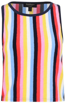 Juicy Couture Sleeveless Microterry Striped Tank