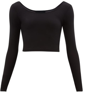 Wone - Long Sleeved Stretch Jersey Performance Top - Womens - Black