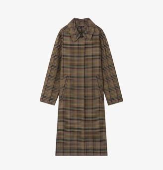 soeur Lettonie Check Cotton Trench Coat - 36 - S - UK10
