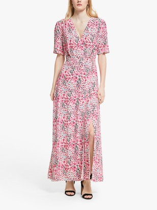 Somerset by Alice Temperley Orchid Animal Print Maxi Dress, Pink/Multi
