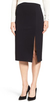 CeCe Side Slit Ponte Midi Skirt
