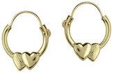 Disney Polished Heart Hoop Earrings, 14K Gold