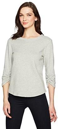 Monrow Women's Sweatshirt W/Shirred Sleeve