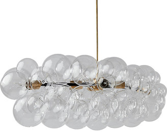 The Light Factory Branch Bubble Chandelier - Clear/Brass
