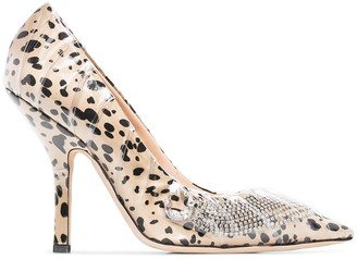 Midnight 00 Animal Print Embellished Pumps