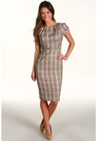 Stop Staring! for The Cool People - Flawless Fitted Dress (Brown Plaid) - Apparel