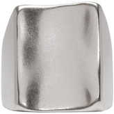 Maison Margiela Silver Wide-Face Ring
