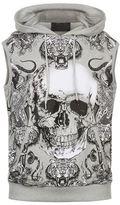 Philipp Plein Swarovski Skull And Tiger Sleeveless Sweatshirt