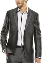 Jf J.Ferrar JF Diamond Charcoal Shimmer Suit Jacket - Slim