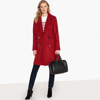 La Redoute Collections Tailored Wool Mix Buttoned Coat