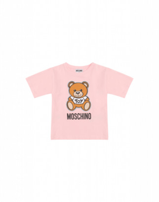 Moschino Teddy Bear Maxi T-shirt Unisex Pink Size 4a It - (4y Us)