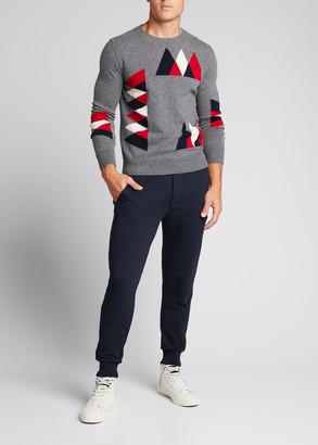 Moncler Men's Wool-Cashmere Mountain Peak Sweater