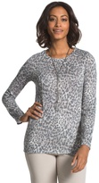 Chico's Effortless Neveah Animal Print Top