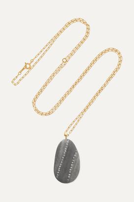 Cvc Stones Loyal 18-karat Gold, Stone And Diamond Necklace - one size