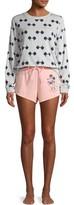 Disney Disney's Mickey Women's and Women's Plus Long Sleeve Top and Shorts Sleep Set