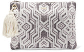 Melissa Odabash Myknos printed cotton-canvas clutch